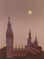Big Ben at Twilight / 1982 / silkscreen