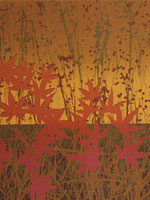 Autumn Fields / 1986 / silkscreen