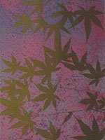 Leaves / 1986 / silkscreen