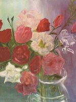 Roses / 1980 / oil on canvas